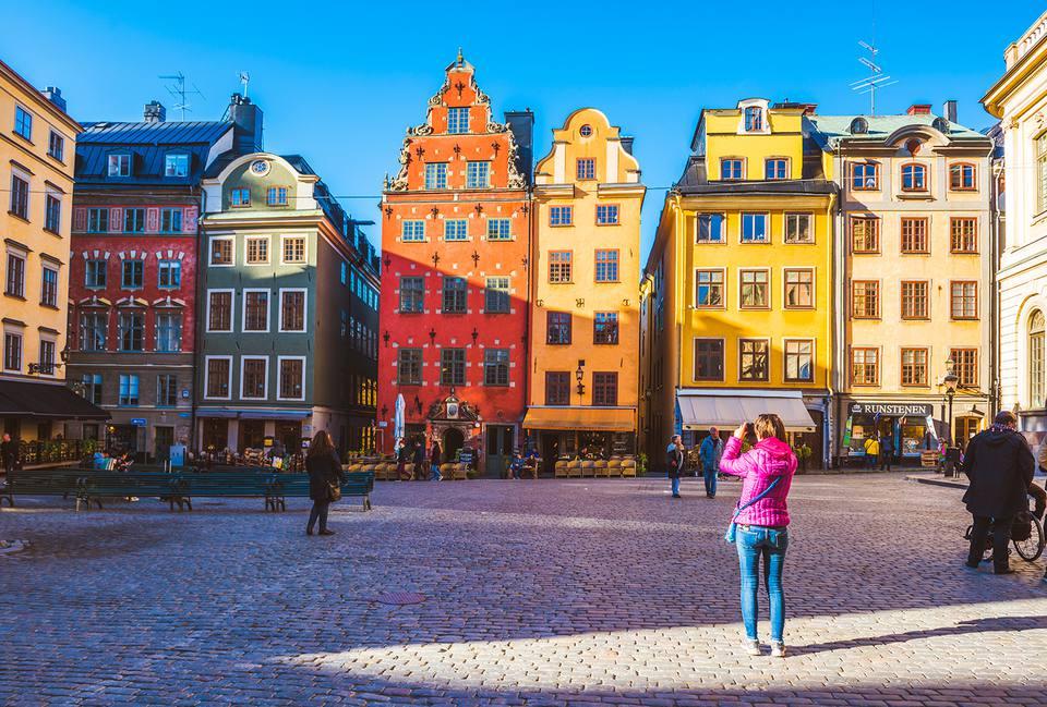 sweden tourist taking photos