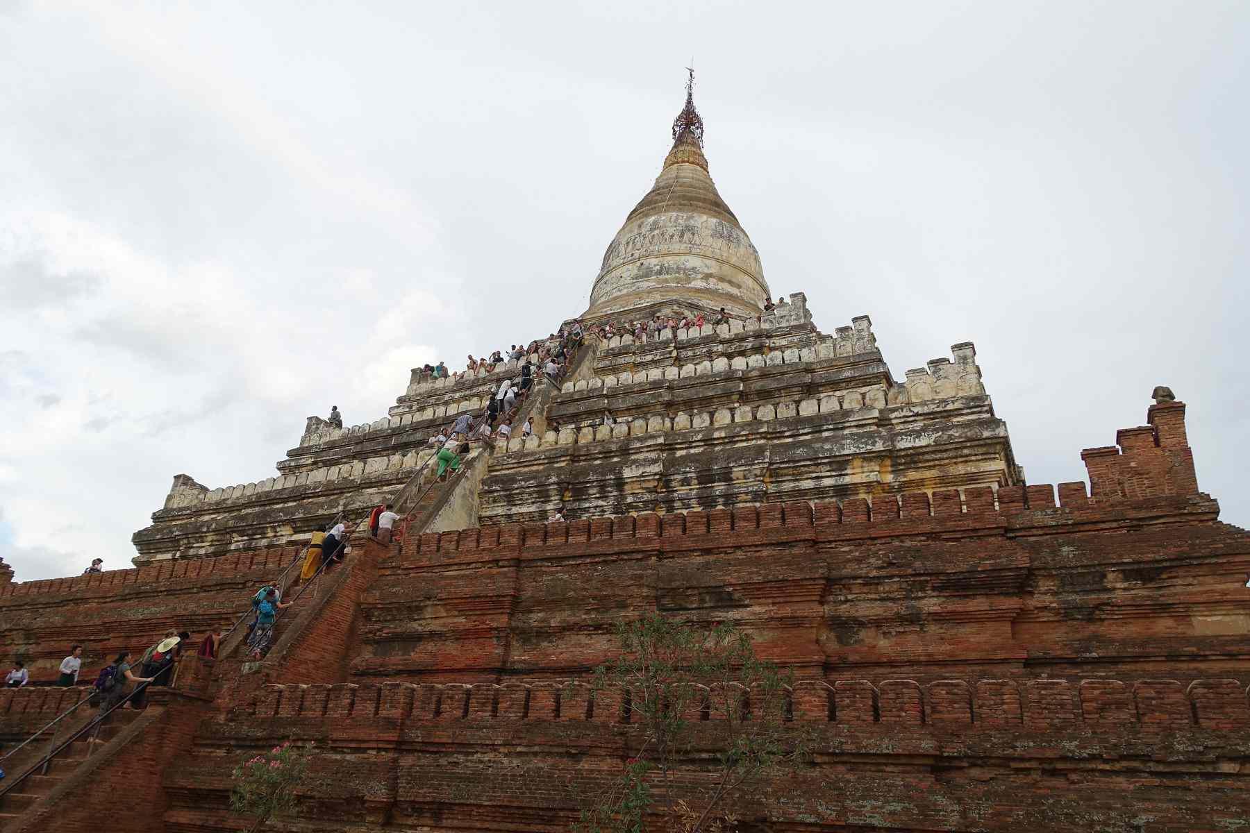 Exterior of Shwesandaw Temple, Bagan, Myanmar