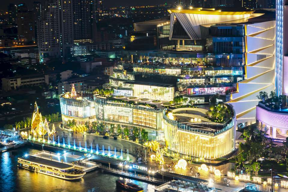 IconSIAM in Bangkok lit up at night