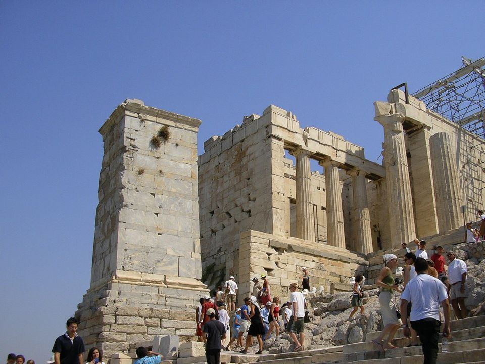 Columns of the Parthenon at Acropolis