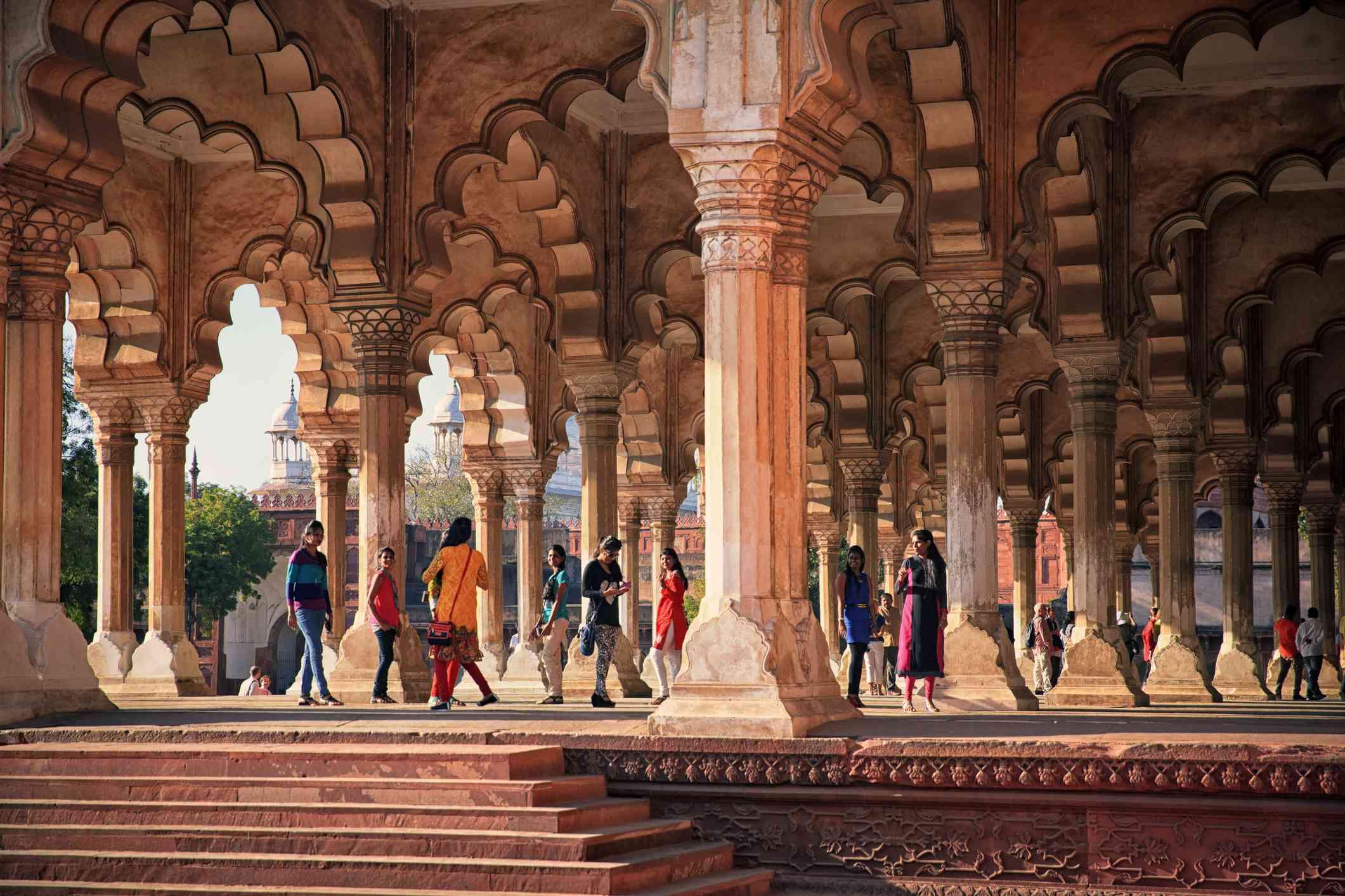 Inside Agra Fort.