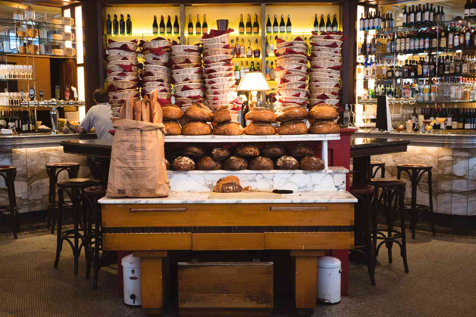 The bread counter at Le Diplomate