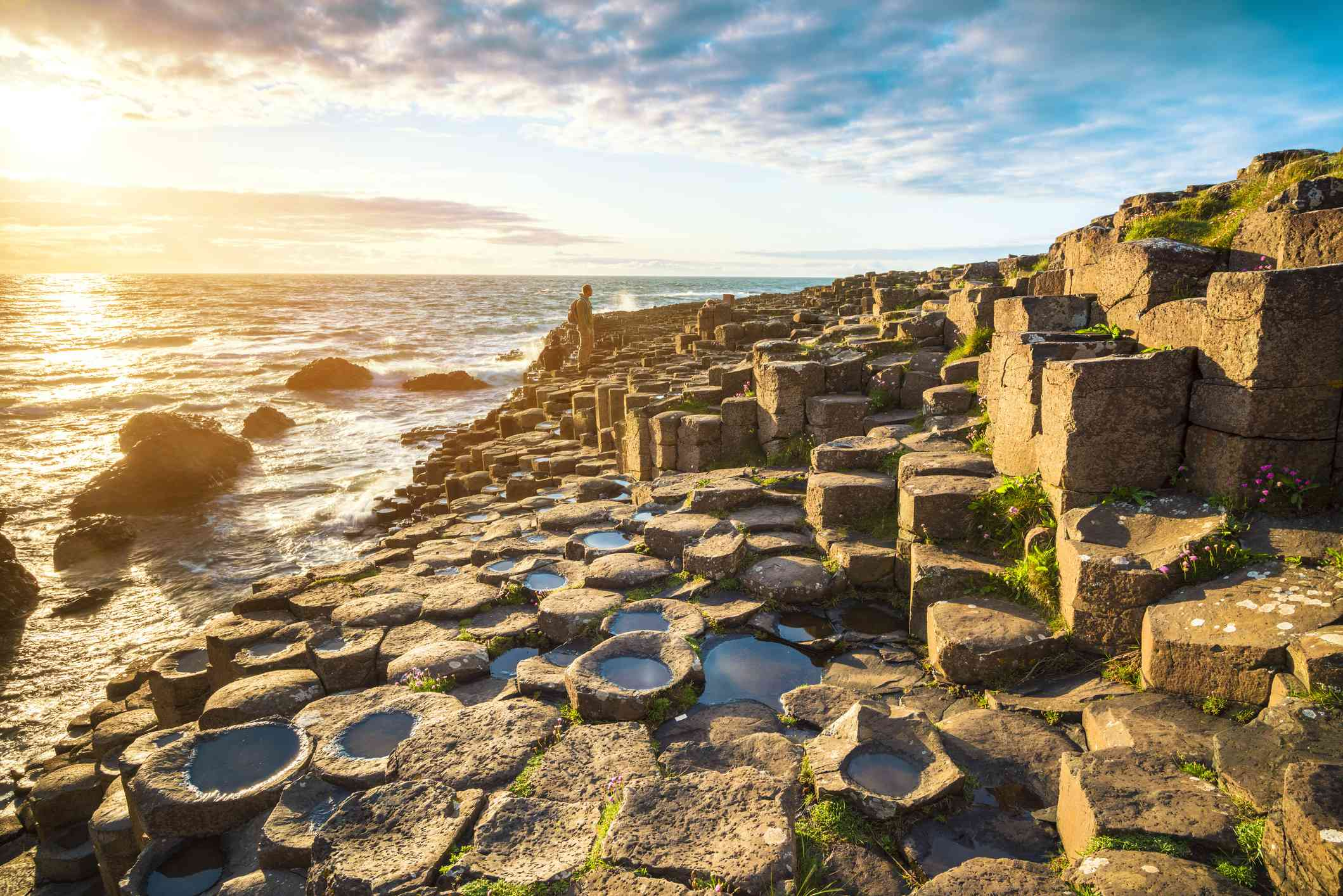 Iconic basalt columns called Giants Causeway