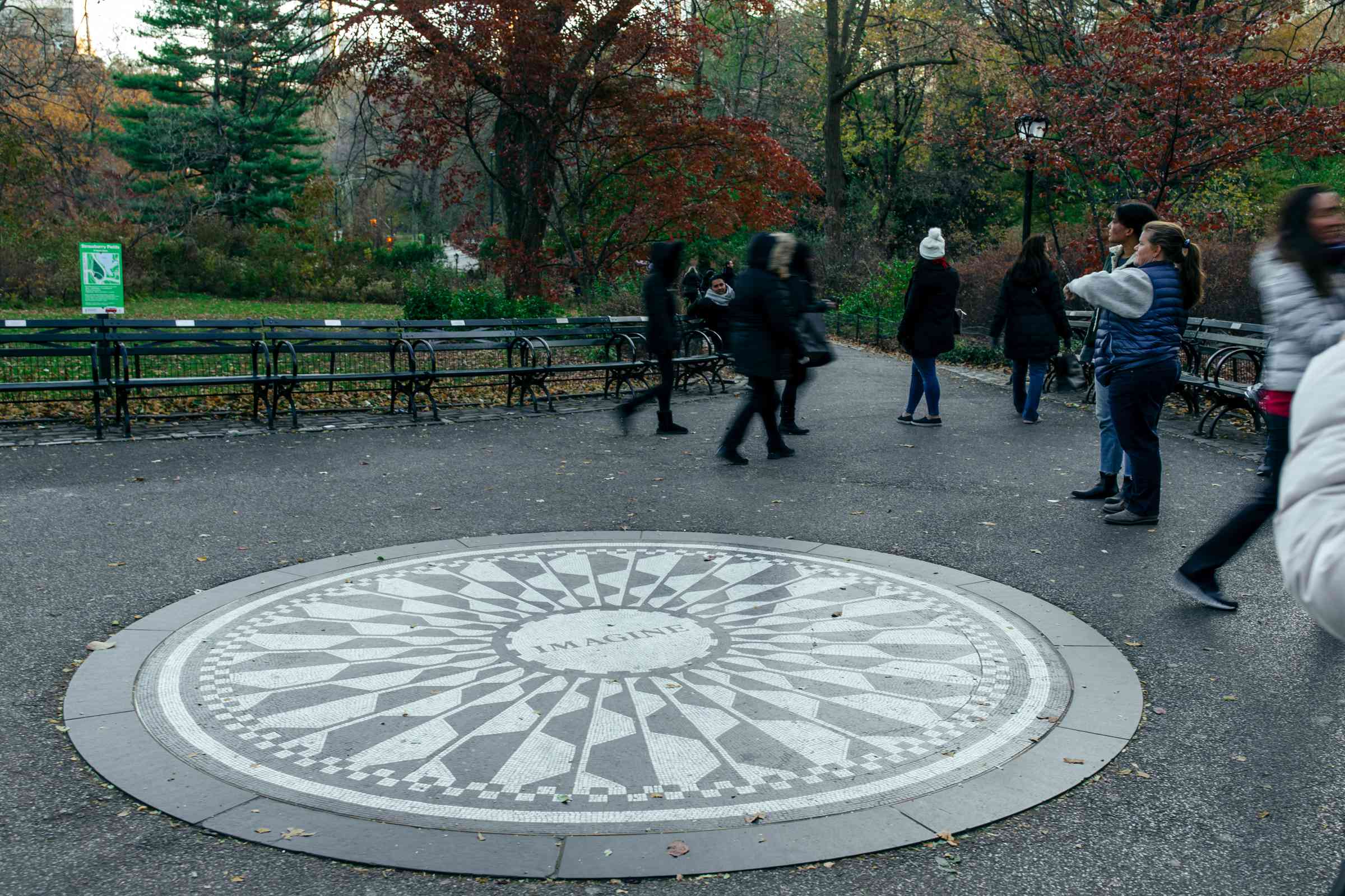 Imagine Memorial in Central Park, NYC