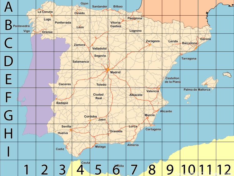 Large Map of Spain\'s Cities and Regions