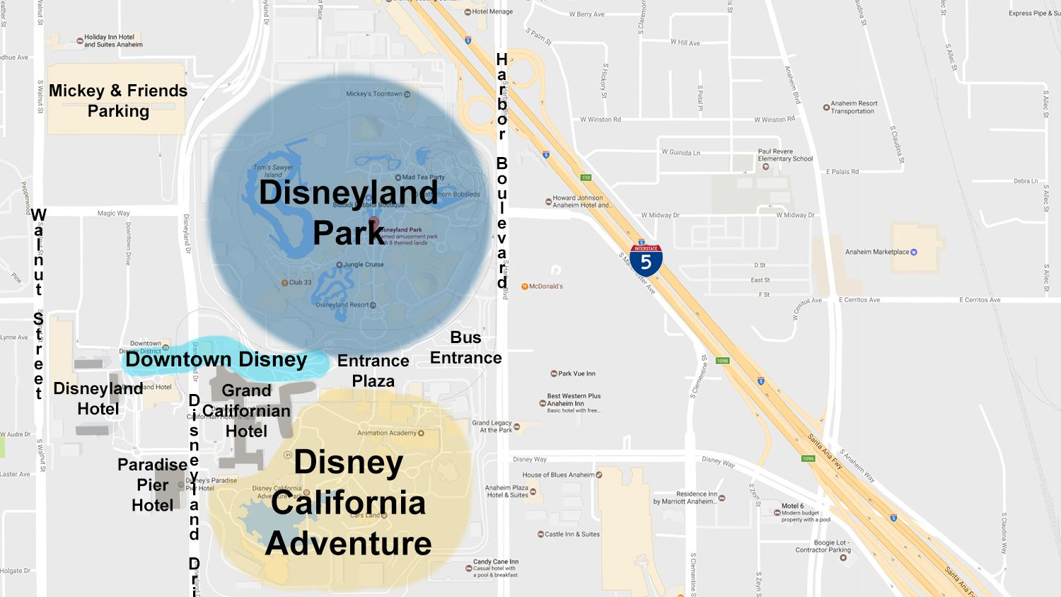 Map Of California Disney.Maps Of The Disneyland Resort