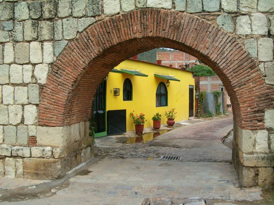 Yellow House in Oaxaca, Mexico