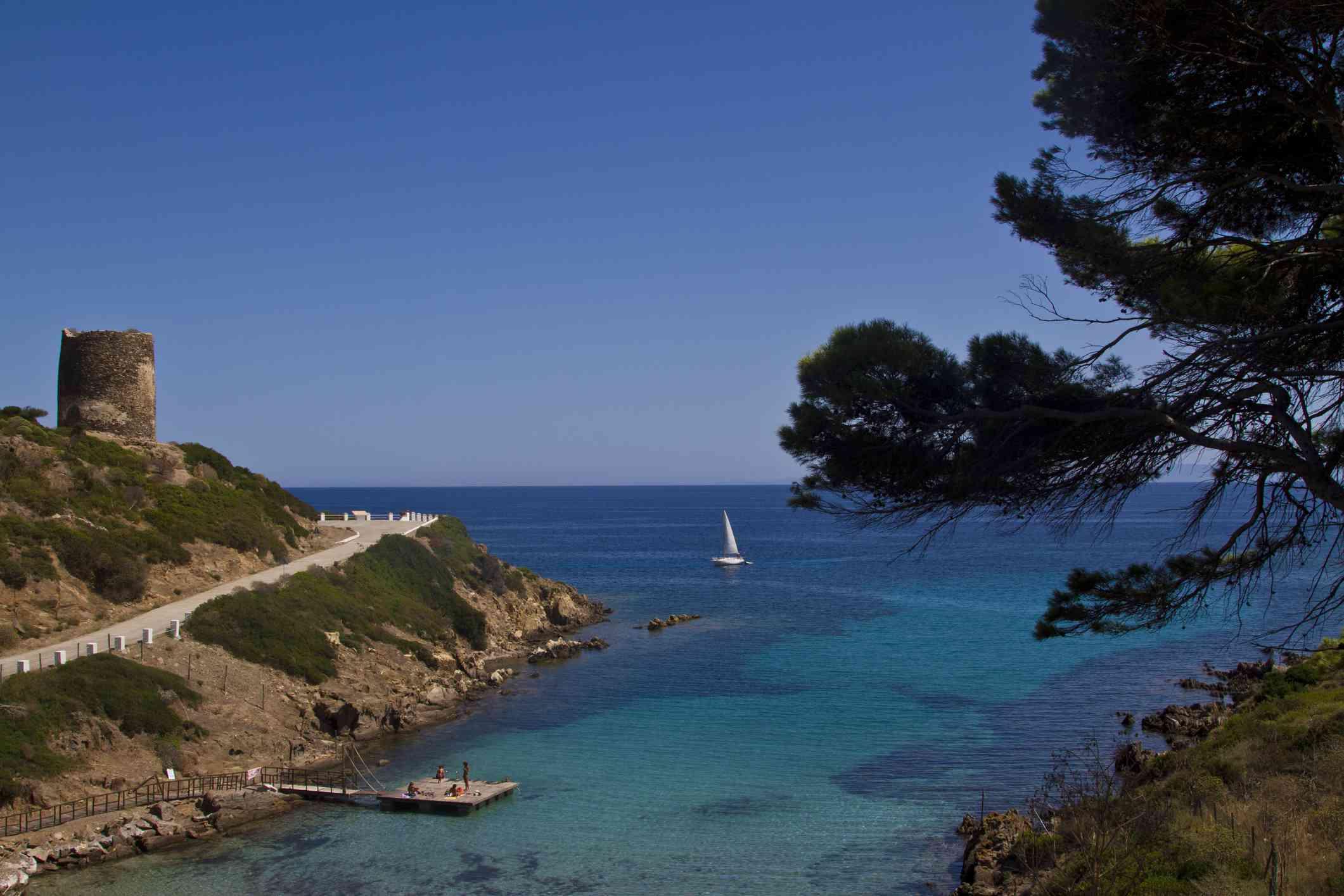 Italy, Sardinia, Asinara Island, Cala d'Oliva