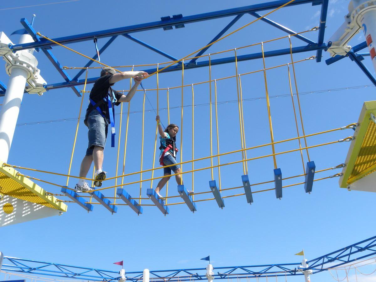 Carnival Magic SkyCourse Ropes Course