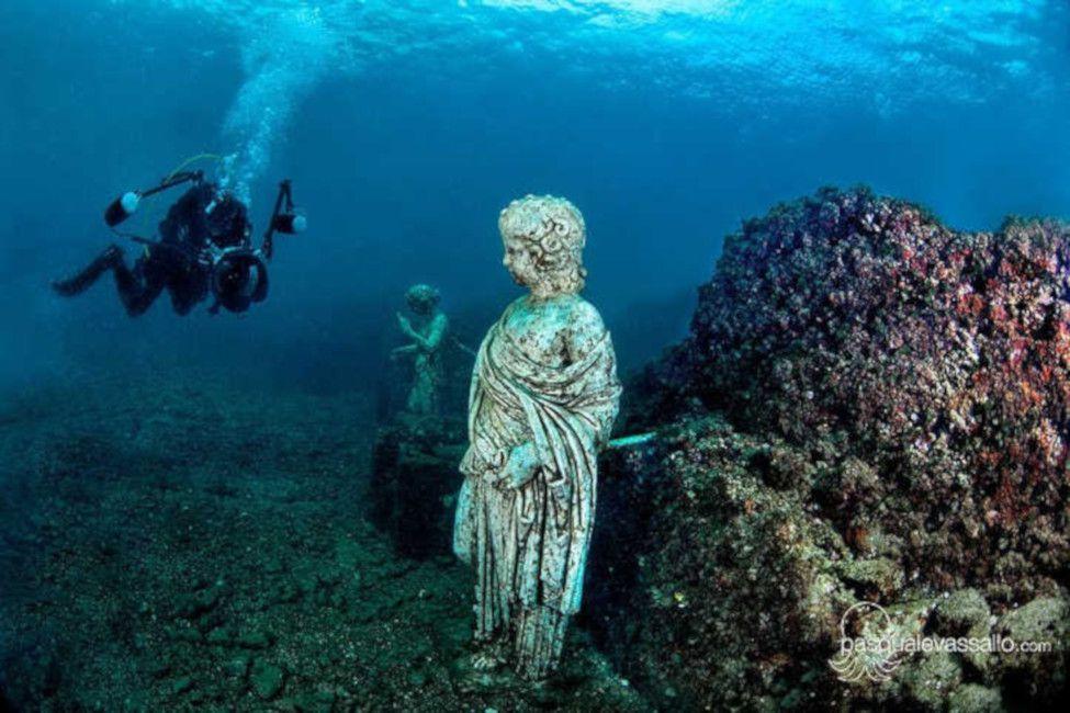 A Roman sculpture viewable only by divers