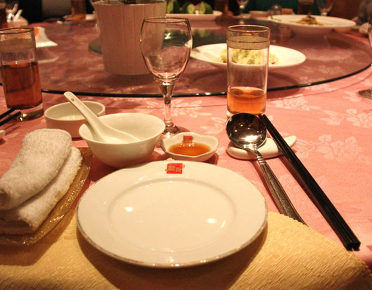 Table Setting At A Chinese Restaurant