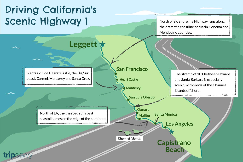 Malibu Zip Code Map.California Highway 1 750 Miles Of Spectacular Scenery