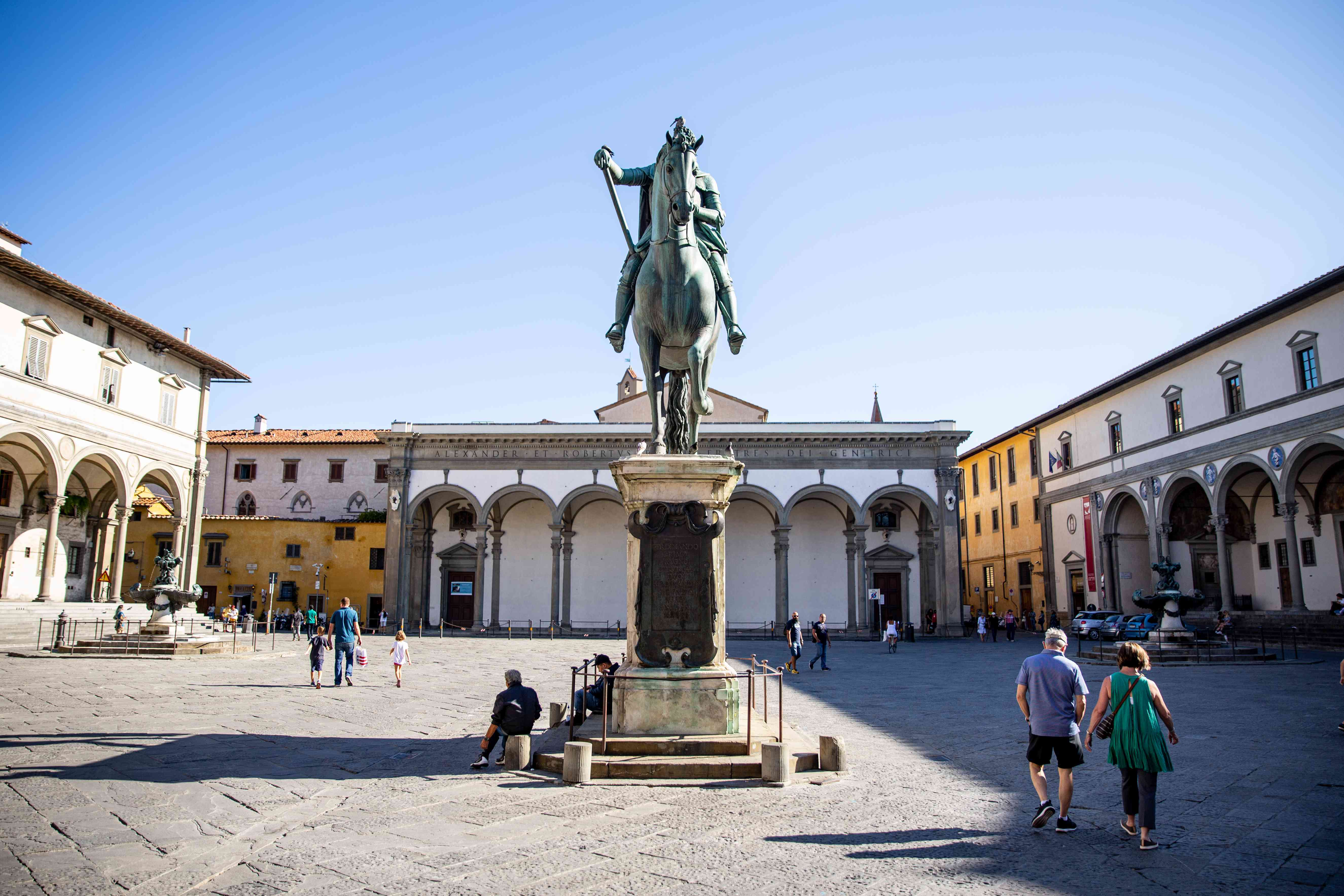 Piazza Santissima Annunziata in Florence, Italy