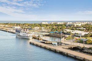 High angle view of Port Canaveral harbor