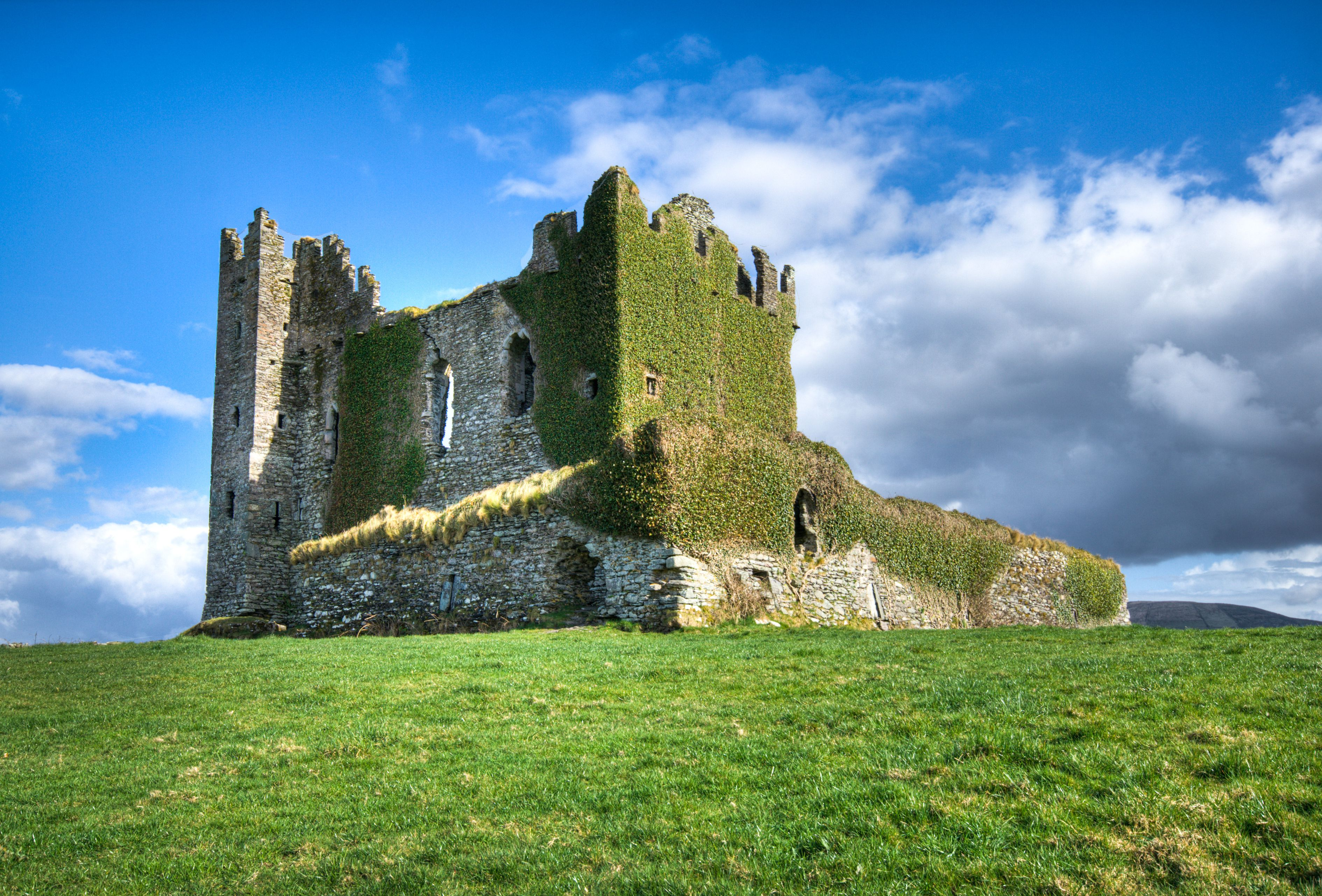 Ballycarbery Castle near Cahersiveen on the Ring of Kerry