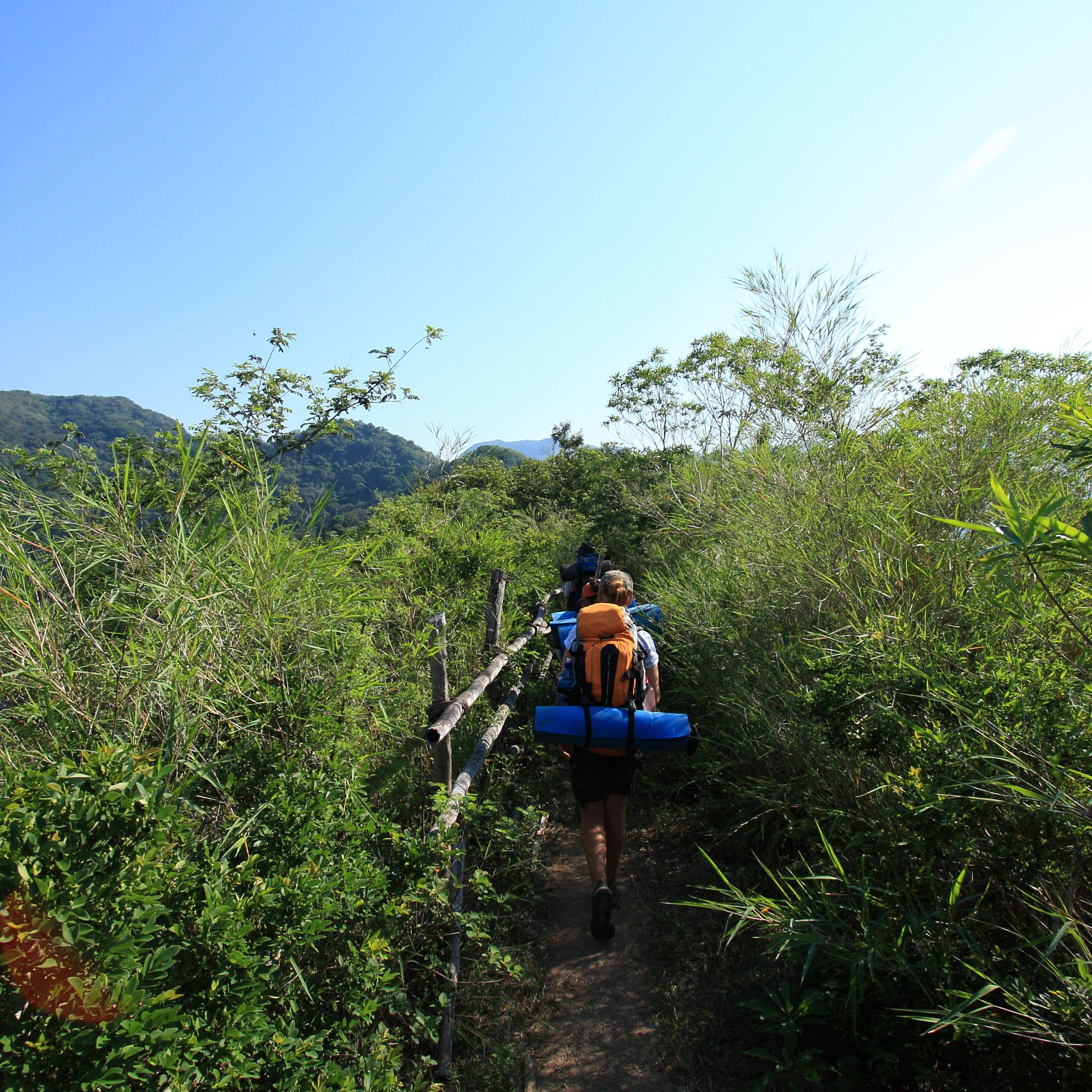 Hikers in El Salvador El Imposible National Park