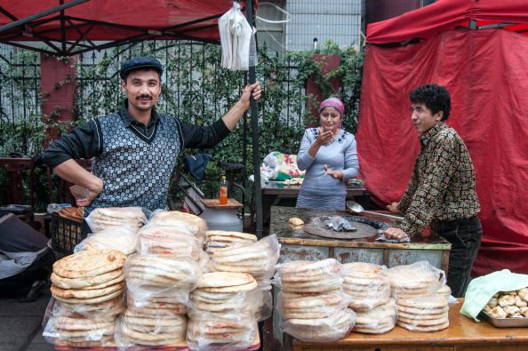 Friday muslim market in shanghai