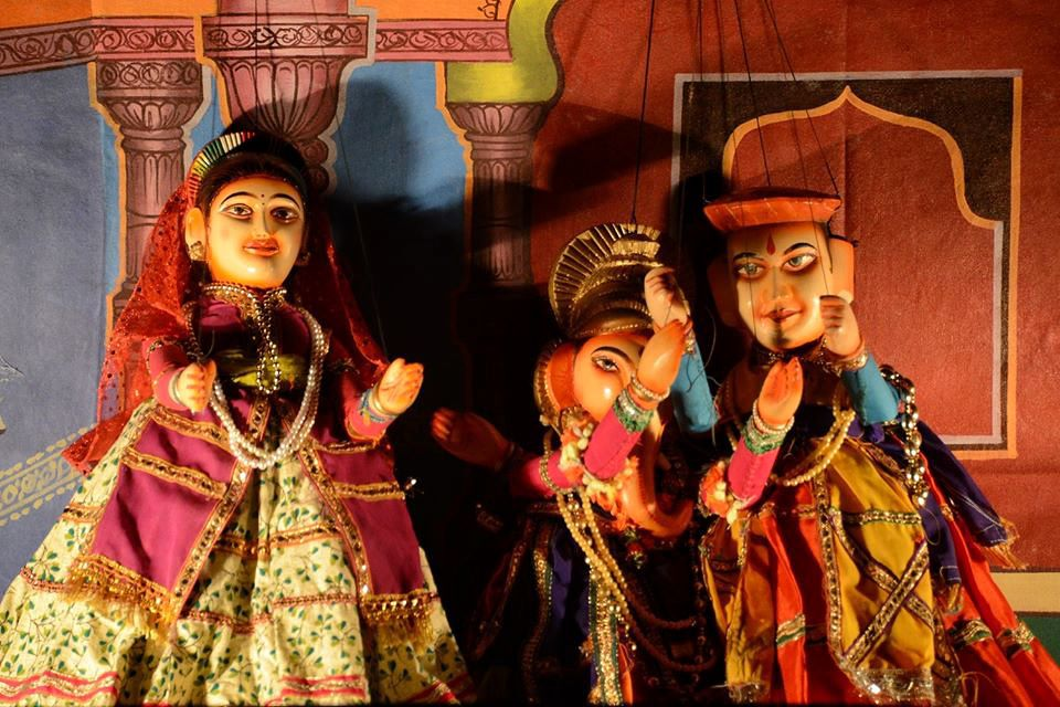 Indian puppets.
