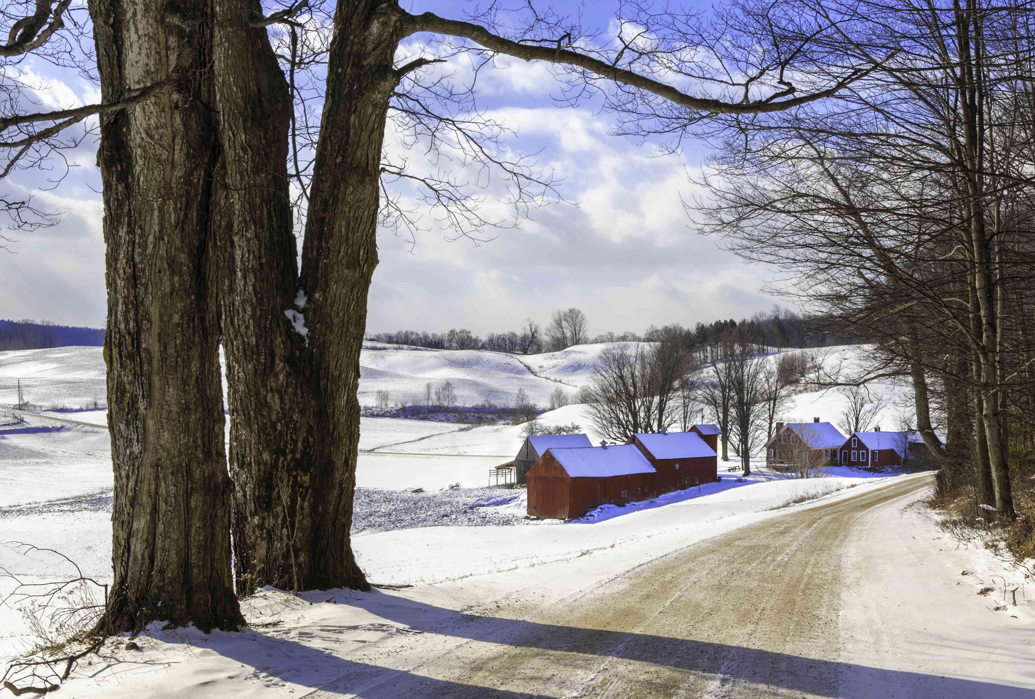 Vermont's Jenne Farm in Winter