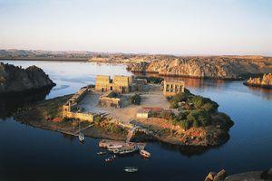 Philae temple complex on Agilkia Island, Egypt