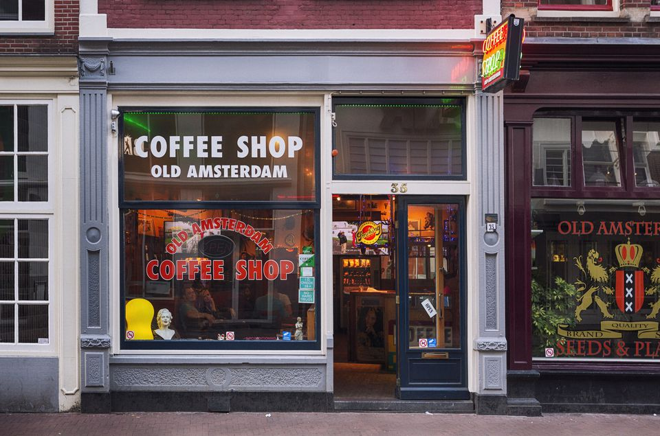 Coffeeshop in Amsterdam, Netherlands