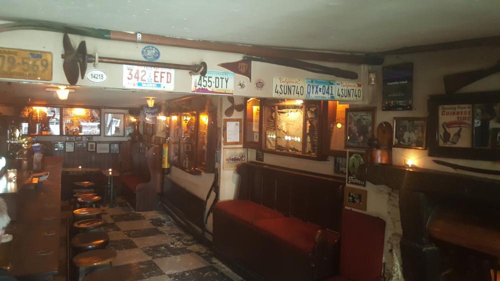 interior of irish pub