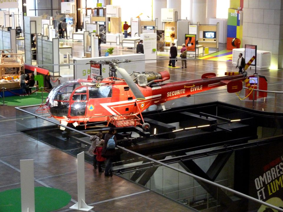 Helicopter Civil Protection exhibited at the City of Sciences de la Villette, Paris