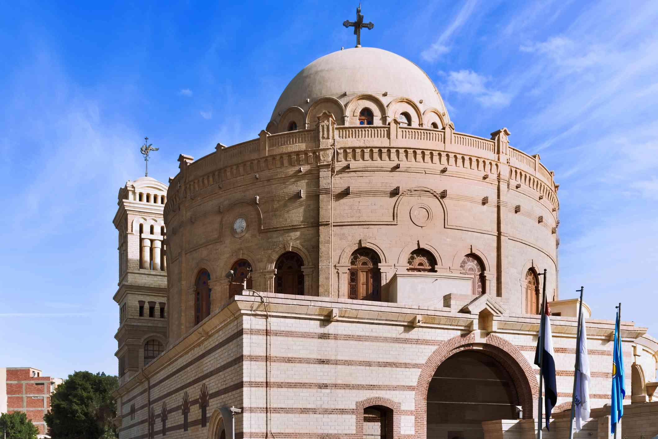 Hanging Coptic Church (El Muallaqa)in old Cairo, Egypt