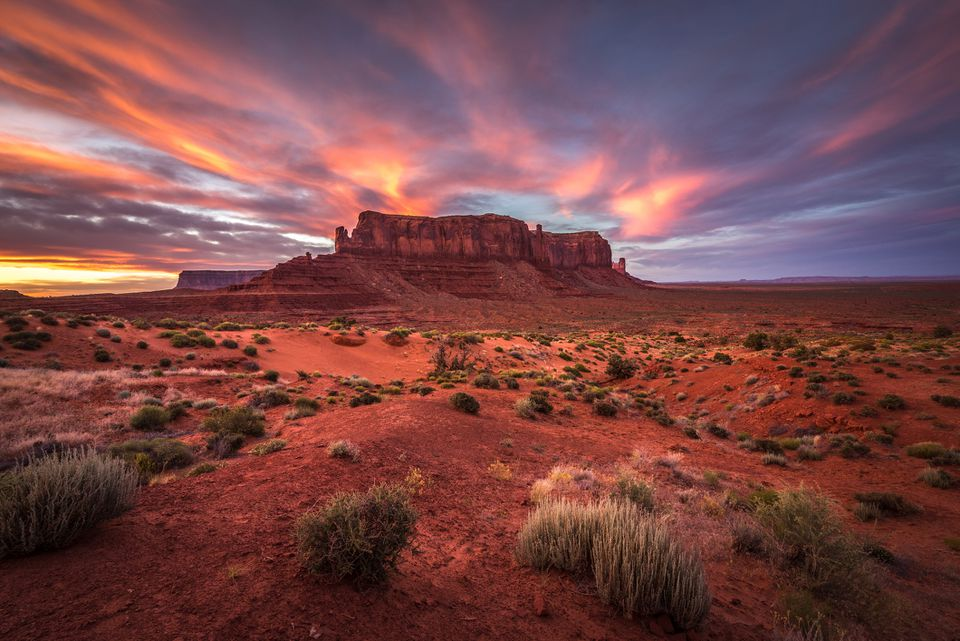 Sentinel Mesa, Monument Valley, Arizona, America, USA
