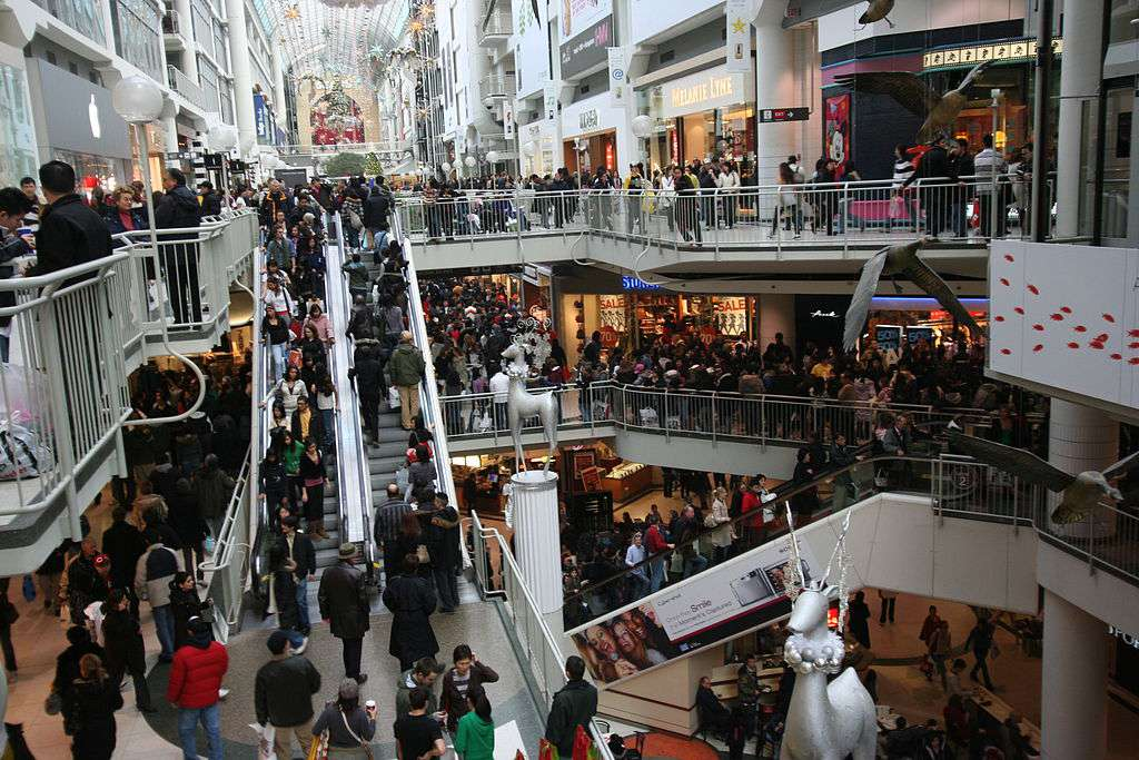 Boxing Day at the Toronto Eaton Centre Mall