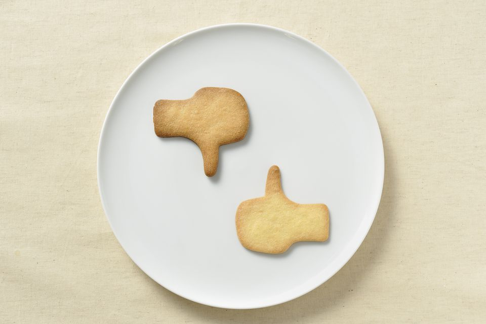 Cookies in the form of good and bad
