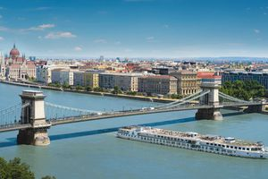 Crystal mozart cruise ship in Budapest