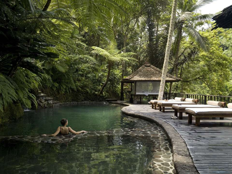 Outdoor pool at a hotel in Bali