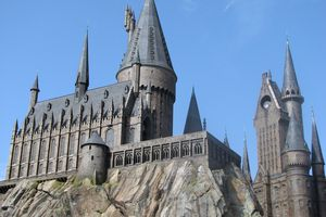 Hogwarts Castle at ther Wizarding World of Harry Potter in Islands of Adventure