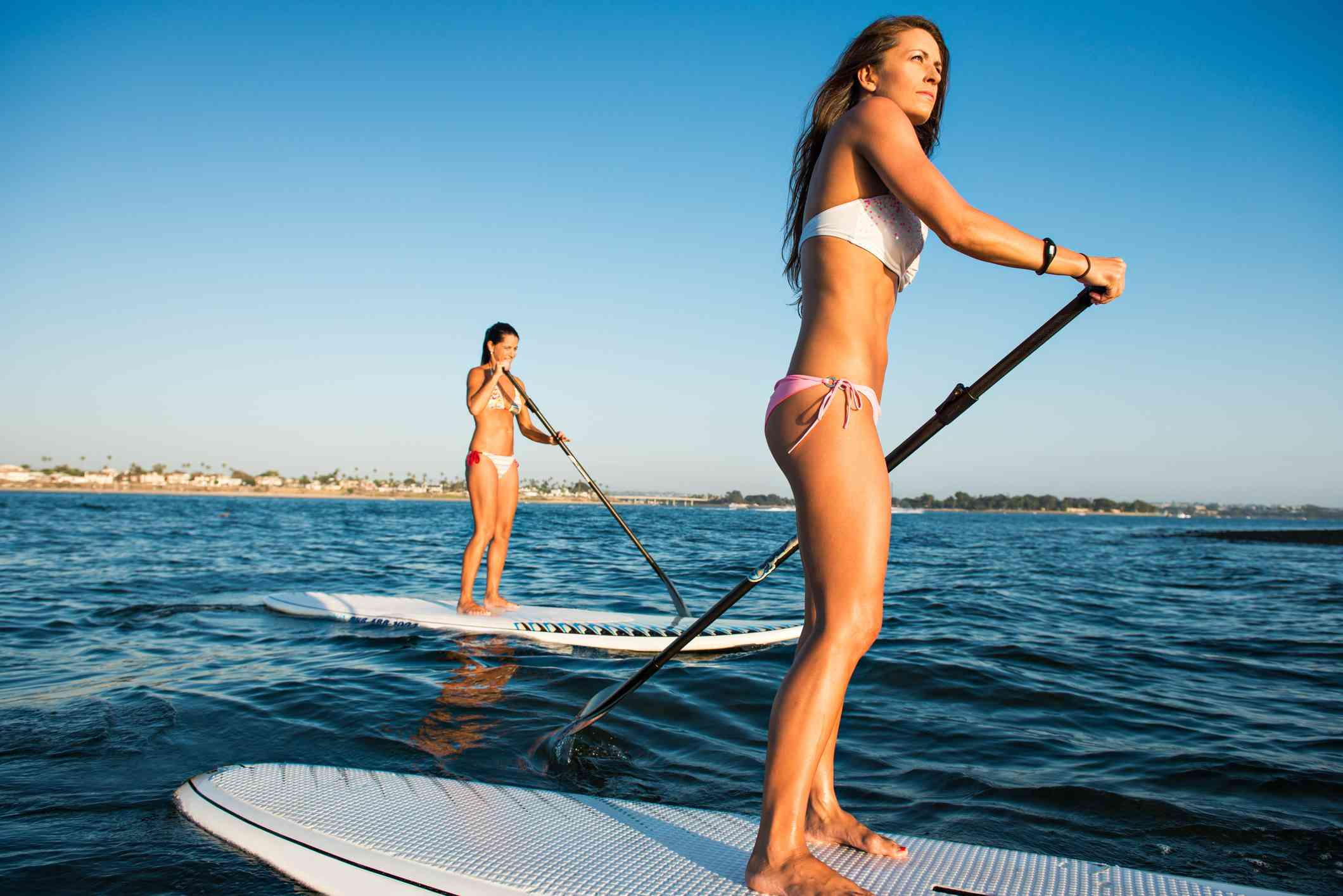 Stand Up Paddleboarding in Mission Bay, San Diego