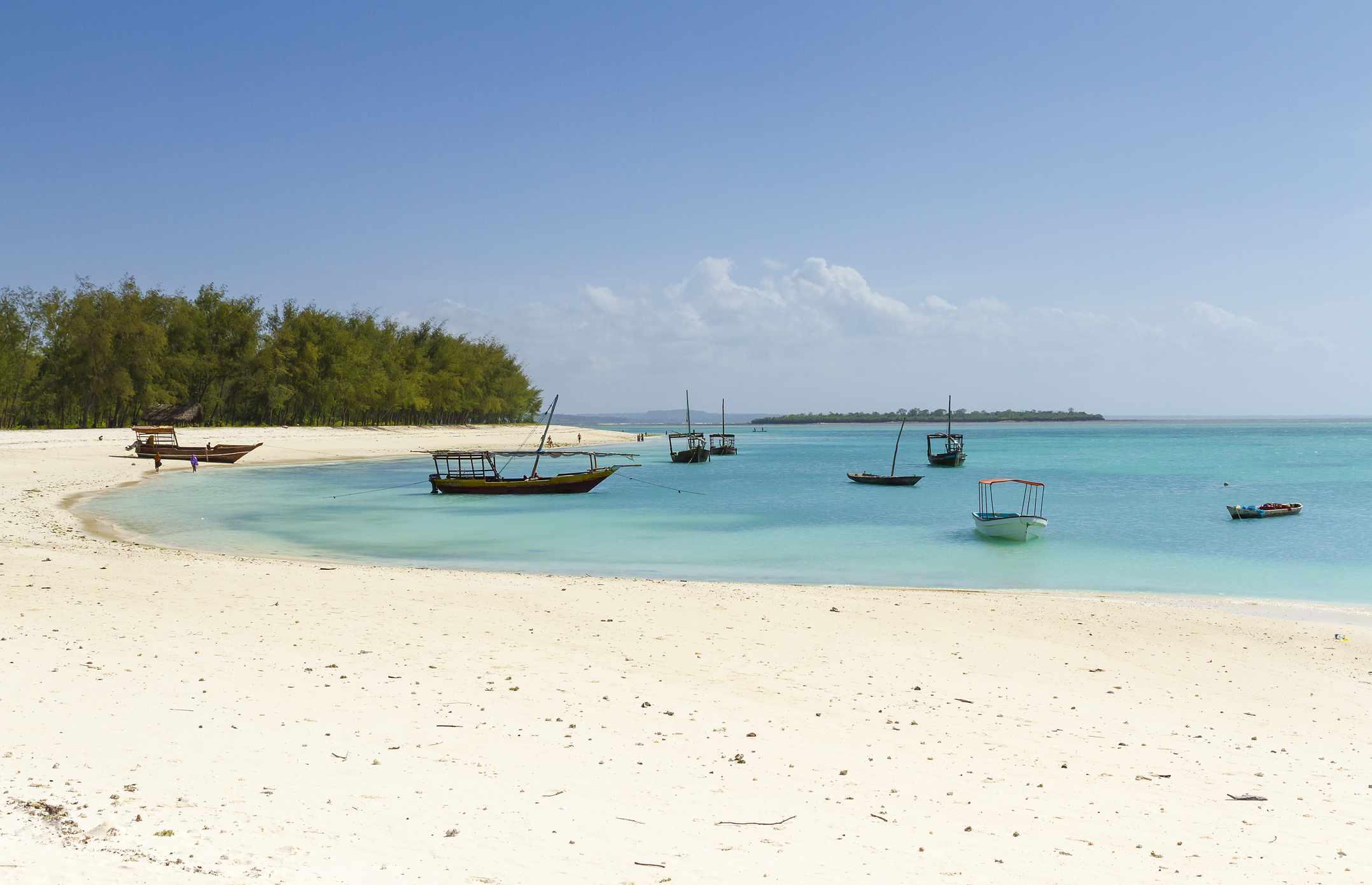 Scenic view of Kendwa Beach, Zanzibar
