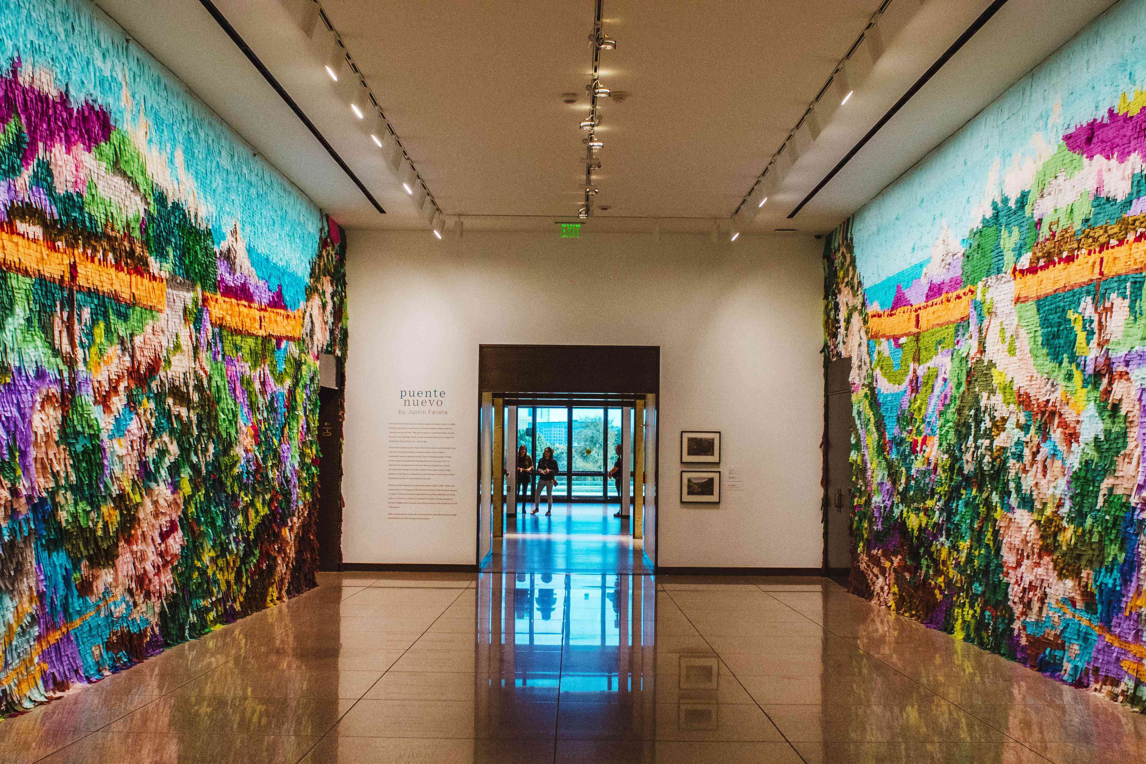 Large mosaic exhibit in the Amon Carter Museum
