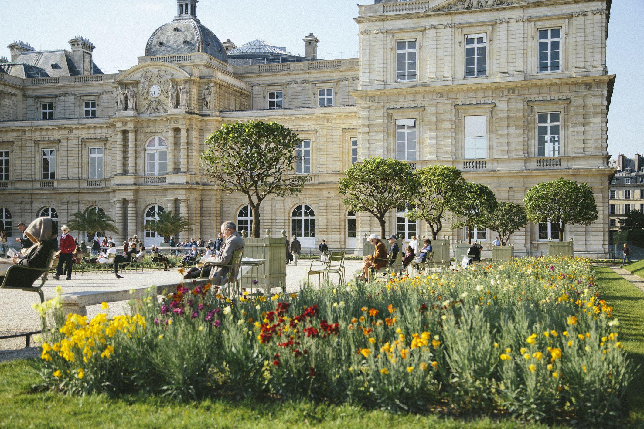 Jardin du Luxembourg en primavera, París
