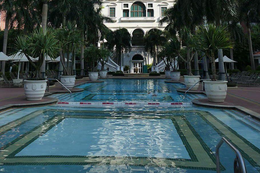 Pool area of Venetian Macau