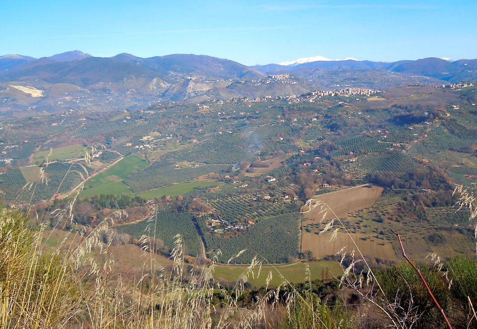 rieti countryside and mount terminillo