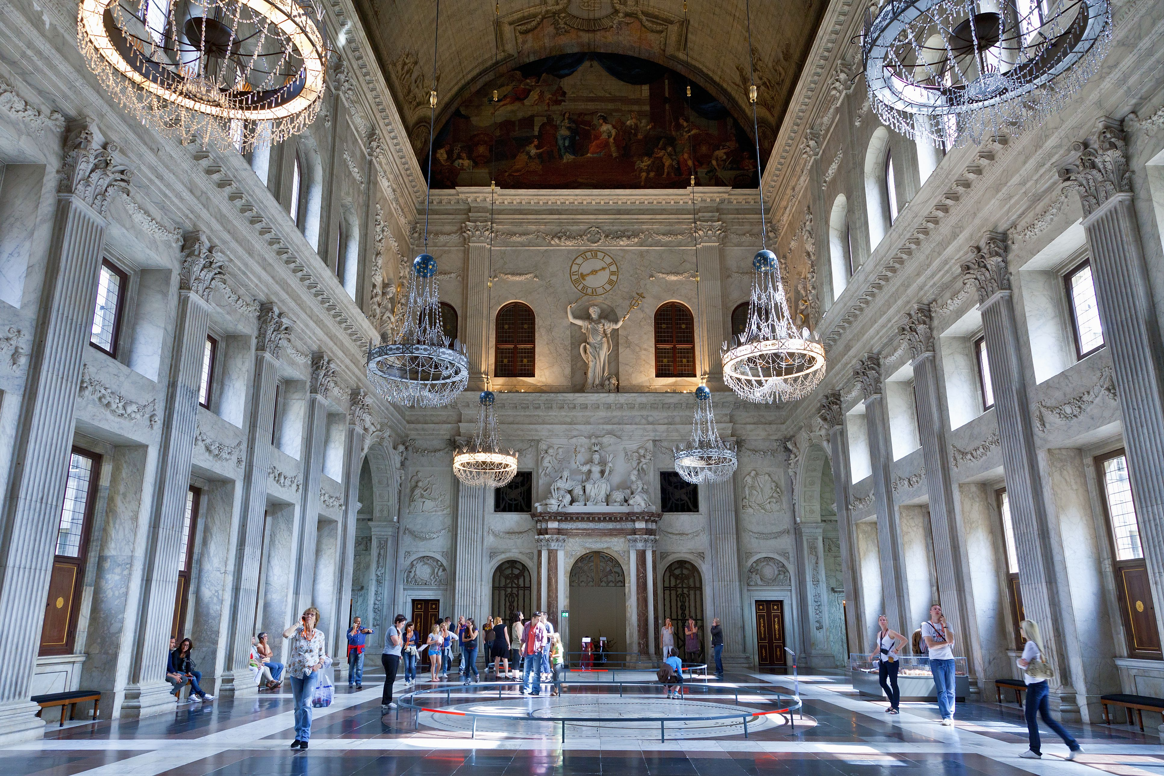Amsterdam, The Citizens' hall in the Royal Palace