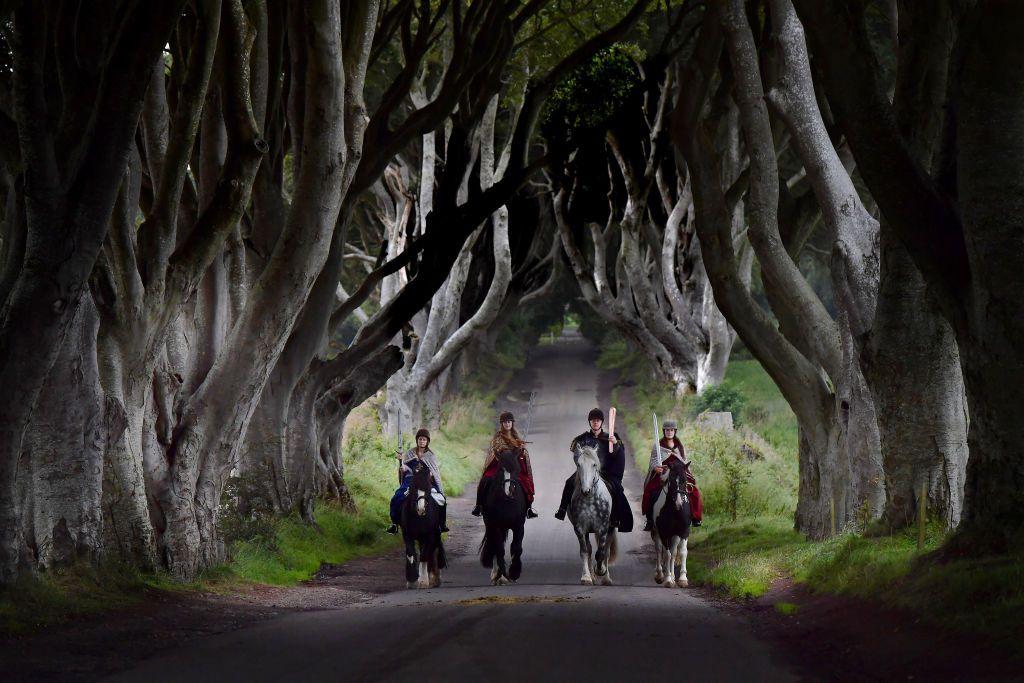 Game of Thrones' 'Dark Hedges' Welcome the Queen's Baton Relay