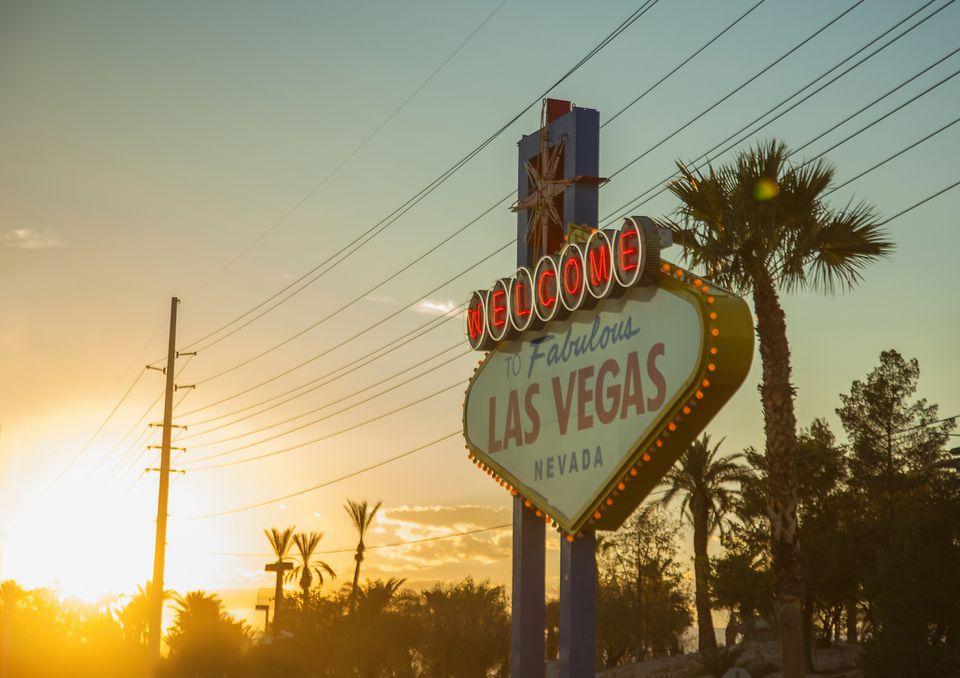 Summer sunset in Las Vegas