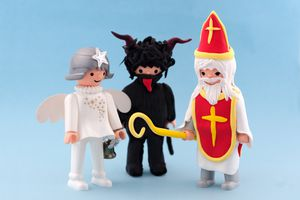 Svaty Mikulas, Angel, and Devil