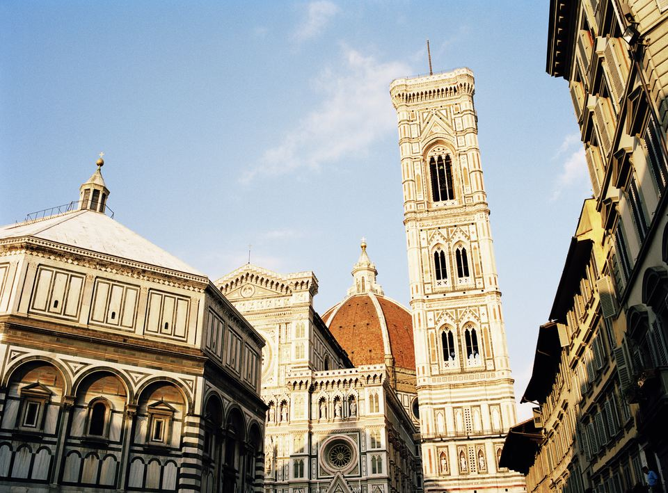 Florence Duomo and Giotto's Campanile as seen from Piazza del Duomo