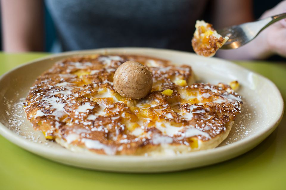 Pineapple pancakes at Snooze