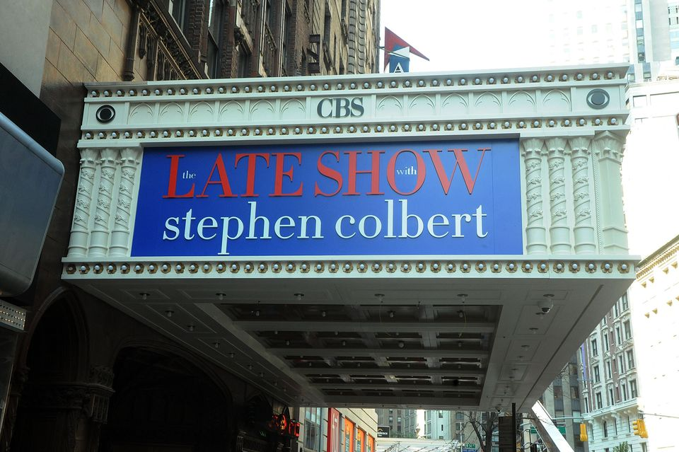 Stephen Colbert New Marquee Broadway