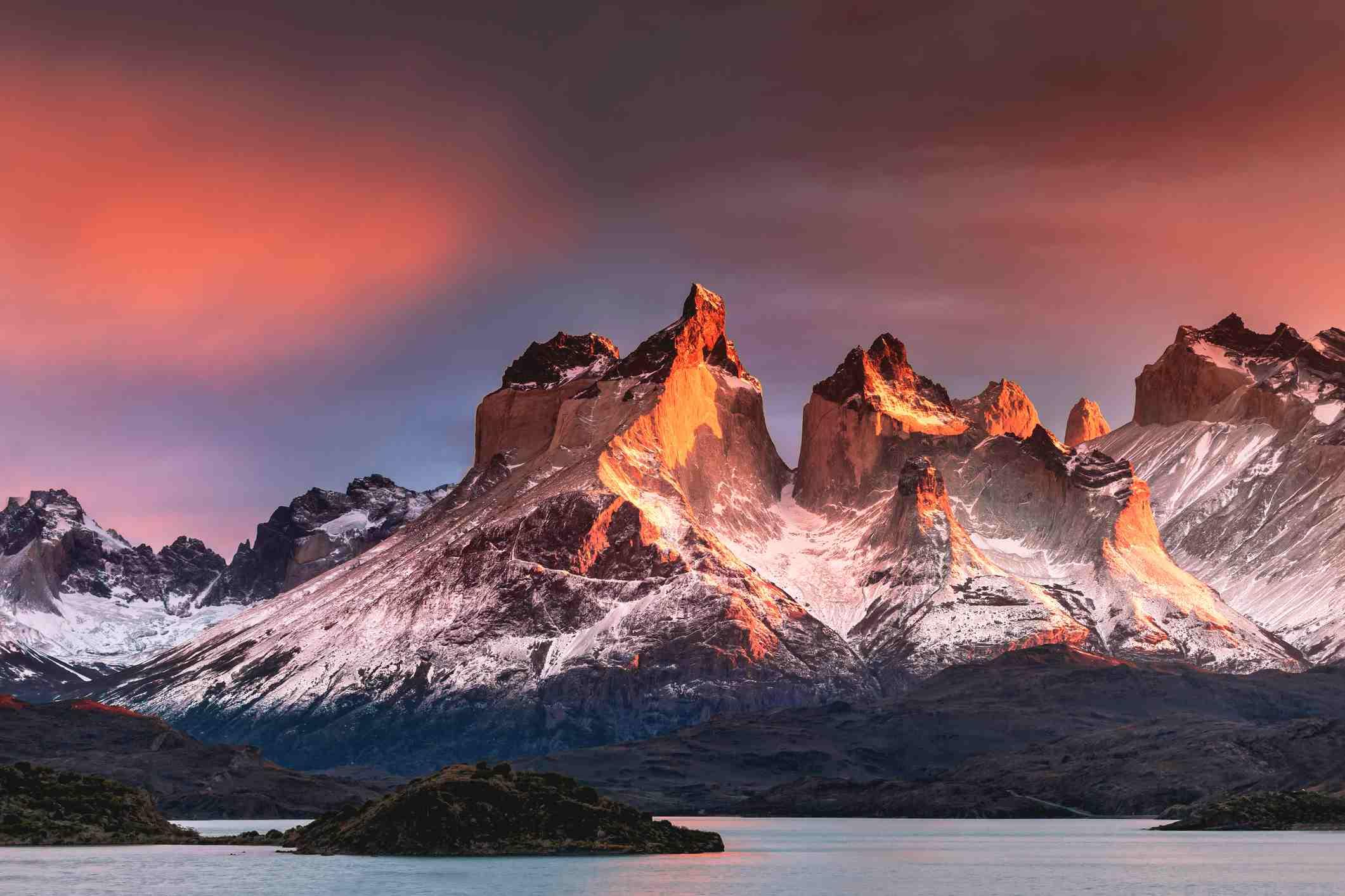 Sunrise taken at Torres Del Paine National Park.