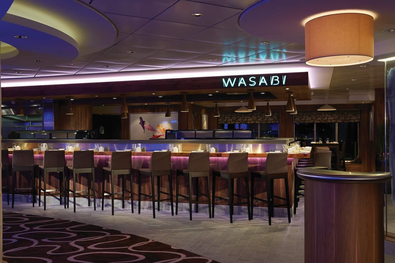 Wasabi Sushi Bar on the Norwegian Getaway