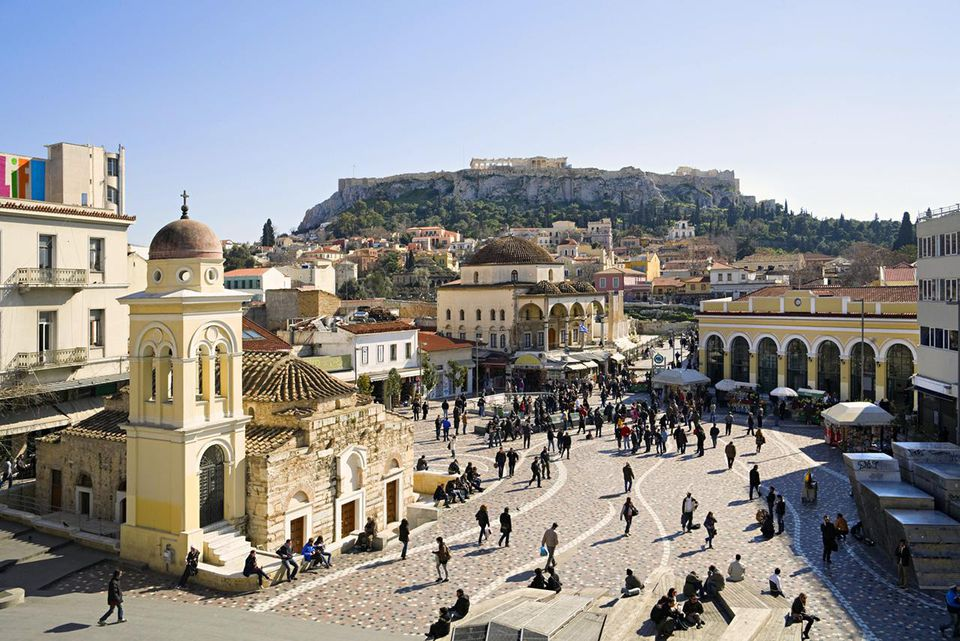 Monastiraki Square, Athens, Greece